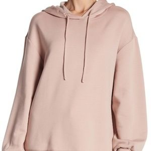 Nordstrom H by bordeaux Raw Edge Hoodie